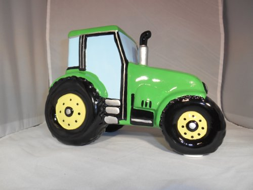 Green Tractor Farming Money Bank Coin Collector Piggy Bank
