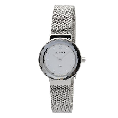 Skagen Designs Ladies Quartz Watch with Silver Dial Analogue Display and Silver Stainless Steel Strap 456SSS