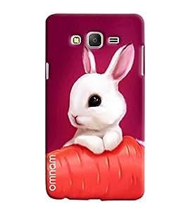 Omnam Cute Little Rabbit On Carrot Printed Designer Back Case Samsung Galaxy On 7