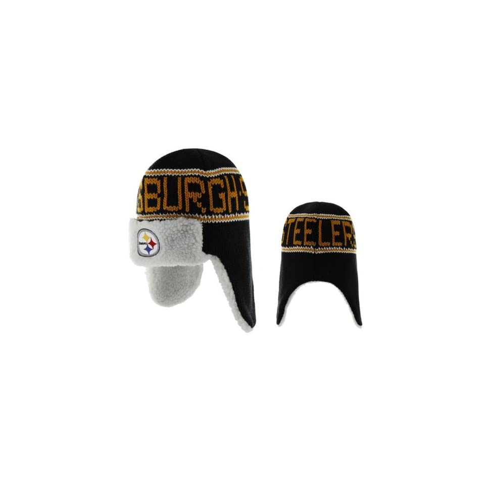NFL Pittsburgh Steelers Mens Yeti Knit Cap, One Size, Black