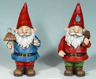Large Standing Garden Gnome Pair