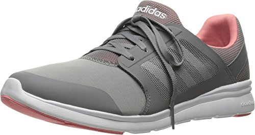 Adidas NEO Women's Cloudfoam Xpression W Cross-Trainer Shoe, Grey/White/Ray Pink F16, 7 M US