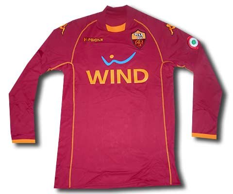 AS Roma home shirt long sleeves 2008-09 adult XL