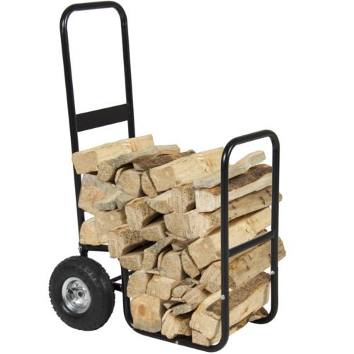 Firewood Cart Log Carrier Fireplace Wood Mover Hauler Rack Caddy Rolling Dolly (Steel Building 40x60 compare prices)