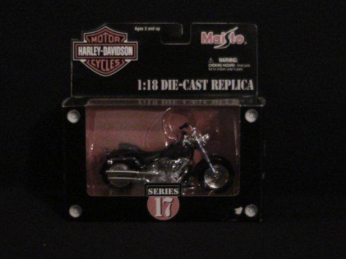 Harley-Davidson Motorcycle 2002 FLSTF Fat Boy 1:18 Series 17