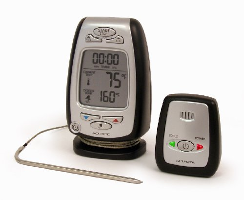 Chaney Instruments Acu-Rite 036168 Wireless Cooking and Barbeque Thermometer with Pager