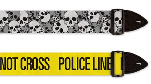 Guitar Straps - PoliceLine and Skull Valley - 2-Pack