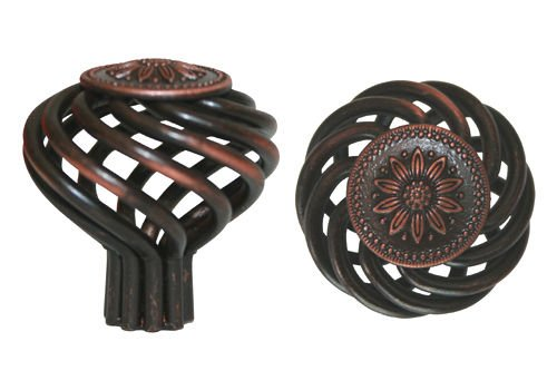 "25 Oil Rubbed Bronze Birdcage Cabinet kitchen Bathroom Knobs 1 5//8/"""
