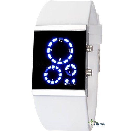 Watches For Men Rectangle Mirror 2013 Latest Wrist Watch White Color