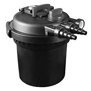 Cpf 4000 pressure filter pond filtration for Outside pond filter