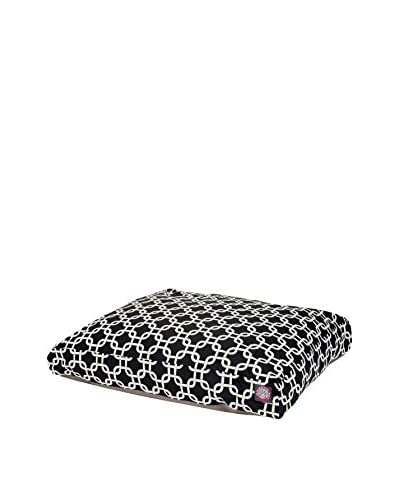 Links Small Rectangle Pet Bed, Black