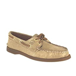 Sperry Top-Sider Women\'s A/o Boat Shoe,Gold,10 M US