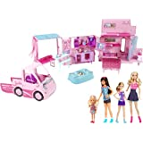 2013 Barbie Sisters' Deluxe Camper Bundle Play Set with 4 Dolls and Fab Cab RV