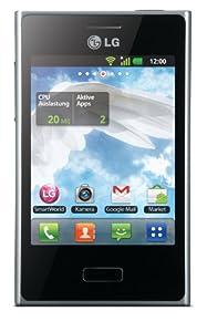 LG E400 Optimus L3 Smartphone (8,1 cm (3,2 Zoll) Touchscreen, 3 Megapixel Kamera, microSD-Slot, Android 2.3) schwarz