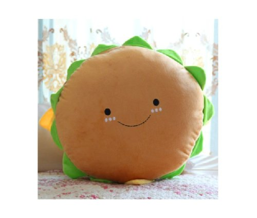 Creative Cute Hamburger Plush Pillow Cushion Lumbar Pillow Hamburger Plush Toy