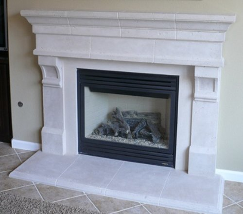 Pinnacle Precast Fireplace Mantel and Surround in TraverStone (Precast Fireplace Mantel compare prices)