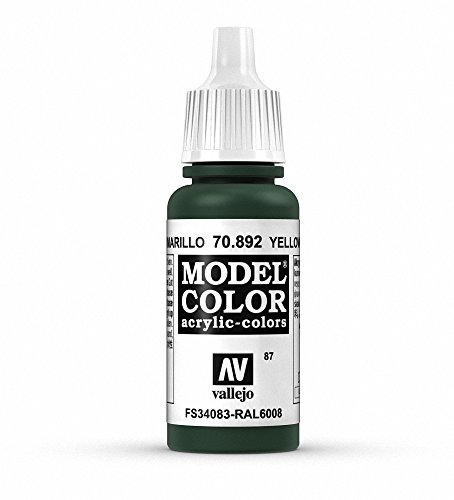 Vallejo Yellow Olive Model Color Paint, 17ml