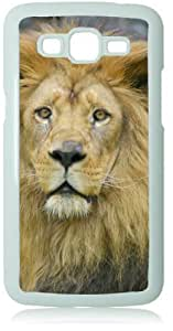 Lion White Back Cover Case for Samsung Galaxy Grand 2 G7106