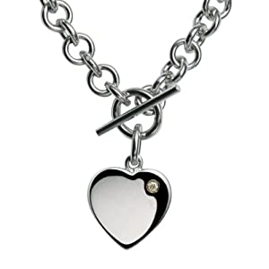 Hot Diamonds Lovelocked Silver and Diamond Necklace 40cm