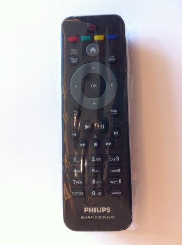 New Blu-ray DVD Remote for Philips Bdp2185/f7 Bdp3406 Bdp3306/f7 Bdp5506 Bdp5406 Bdp2985 (Dvd Player Remote Control compare prices)