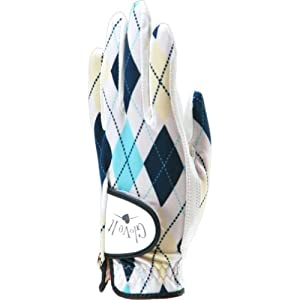 Glove It Women's Aqua Argyle Golf Glove