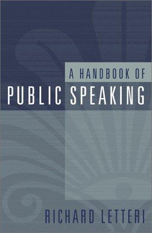 A Handbook of Public Speaking