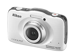 Nikon COOLPIX S32 Camera - White (13.2MP 3x Zoom) 2.7 inch LCD FHD