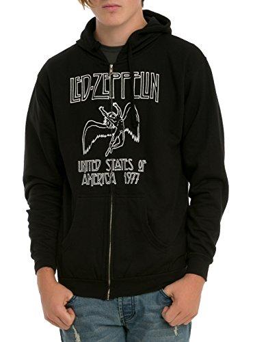 Led Zeppelin 1977 Zip Hoodie Size : Medium