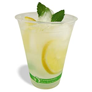 Jaya 100% Compostable PLA Clear Cold Cup, 16-Ounce, 1000-Count Case