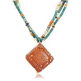 Triple Strand Turquoise Multi-Stone Necklace, available at Amazon.com