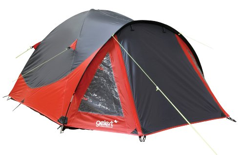 Gelert Rocky 3 Person Tent - Mars Red/Charcoal