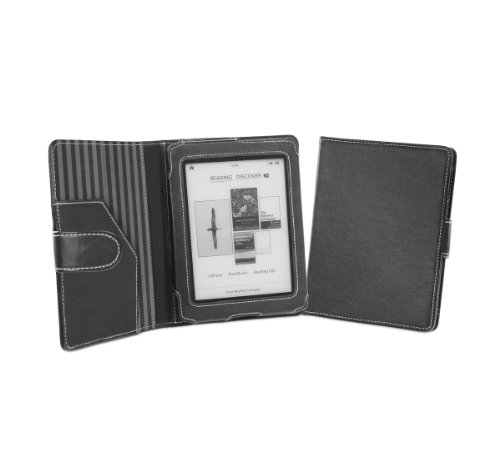 Cover-Up Kobo Mini (5-inch) eReader Cover Case With Auto Sleep / Wake Function (Book Style) - (Black)