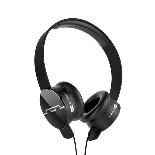 Sol Republic 1202-61 Tracks On-Ear Interchangeable Headphones With 1-Button Mic And Music Control - Black