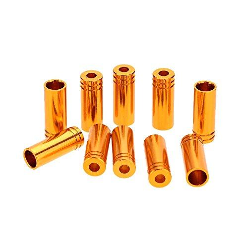 10Pcs 6061 Aluminum Alloy MTB Bicycle Bike Derailleur Shifter Cable End Tips (Gold) (Derailleur Cable Cutter compare prices)
