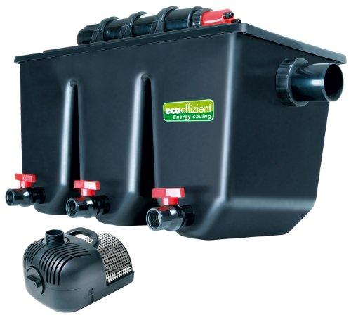Mehrkammer-Teichaußenfilter PTS 40000 UV, UV-C 25 Watt, für Teiche bis zu 40.000 Liter