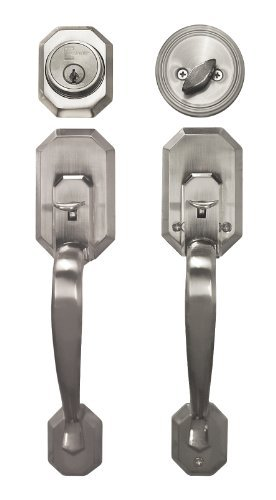 Constructor CON-CER-SN Cerberus Entry Handle Set Door Lock Lever, Satin Nickel (Door Handle Lock Set compare prices)