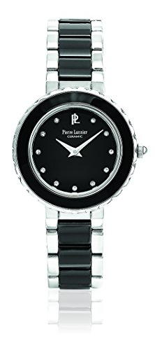 Pierre Lannier - 016L639 - Elegance Ceramique - Montre Femme - Quartz Analogique - Cadran Noir - Bracelet Céramique Noir