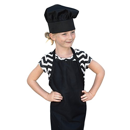 obviouschef kids child 39 s chef hat apron set kid 39 s size children s kitchen cooking and baking. Black Bedroom Furniture Sets. Home Design Ideas