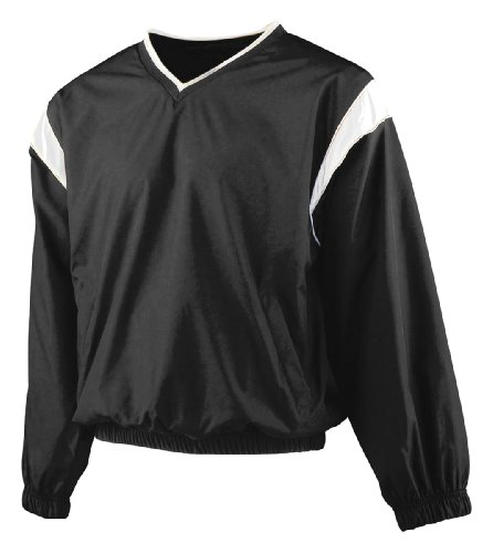 Augusta Sportswear 3441 Youth'S Micro Poly Windshirt Black/White Large front-892529