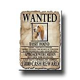 Basset Hound Wanted Fridge Magnet No 1
