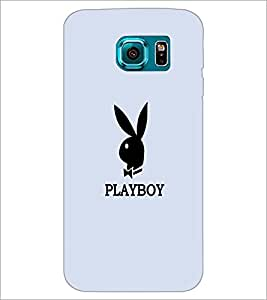 PrintDhaba Playboy D-5601 Back Case Cover for SAMSUNG GALAXY S6 EDGE (Multi-Coloured)