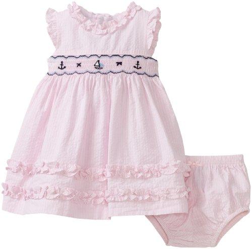Hartstrings Baby girls Newborn Seersucker Flutter Sleeve