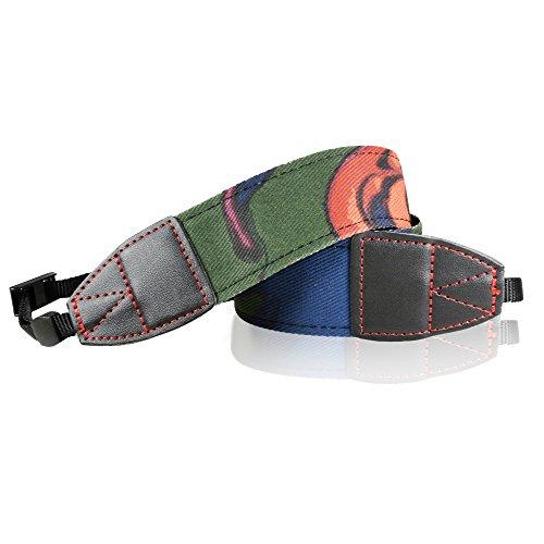 Fototech Abstract Striped Shoulder Strap /Grip Neck Strap Belt For Canon Nikon Sony Panasonic Fujifilm Olympus Pentax Sigma Dslr/Slr/Evil Camera With Fototech Velvet Bag