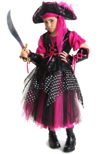 Big Girls' Pink Caribbean Pirate Costume