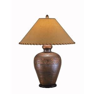 remington lamp 2377 table lamp in hammered brass antique copper. Black Bedroom Furniture Sets. Home Design Ideas