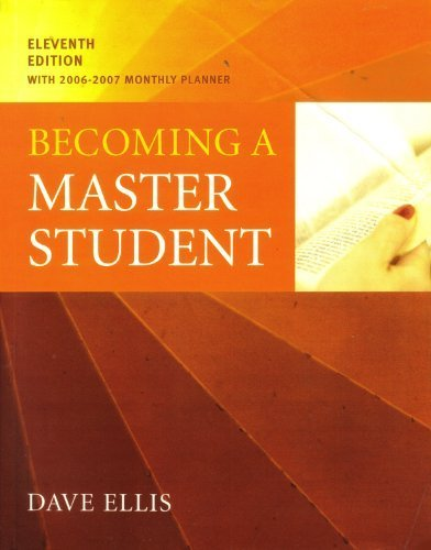 Becoming a Master Student with 06-07 Planner