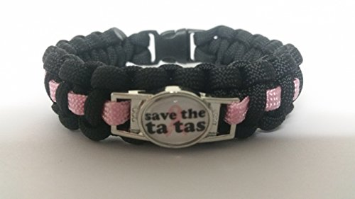 save-the-tatas-breast-cancer-paracord-survival-bracelet-with-charm-two-choices-to-choose-from-by-bos