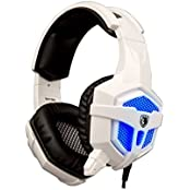 Sades SA-738 Stereo Lightweight Gaming Headphone Blue Led Lighting Headsets PU Ear-pad USB 3.5mm With Mic For...