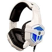 Sades SA-738 Stereo Lightweight Gaming Headphone Blue Led Lighting Headsets PU Ear-pad USB 3.5mm With Mic For...