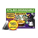The ORGANIC COFFEE COMPANY GORILLA Decaf 24 ONE CUPS for Keurig K-Cup Brewers